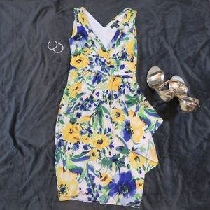 Colorful spring floral Ralph Lauren dress